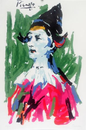 Lithograph Picasso - Pierrot