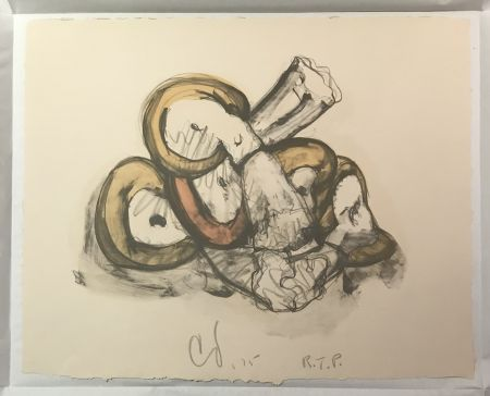 Lithograph Oldenburg - Pile of Erasers