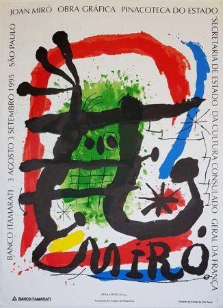 Lithograph Miró - Pinacoteca De Estado  Sao Paulo
