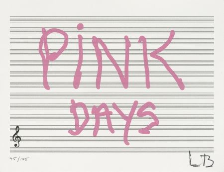 Screenprint Bourgeois - Pink Days