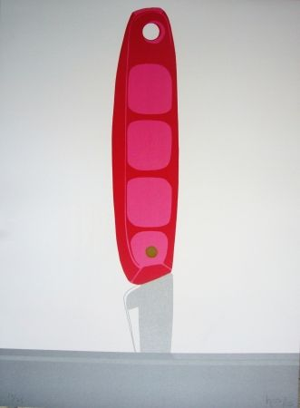 Lithograph Hoyos - Pink Knife