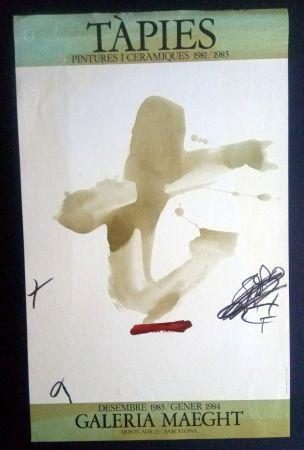 Poster Tàpies - Pintures i Ceràmiques - Galeria Maeght 1983/1984