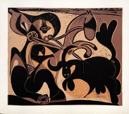 Linocut Picasso (After) - Pique