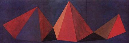 Lithograph Lewitt - Piramidi VI