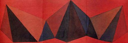 Lithograph Lewitt - Piramidi VIII