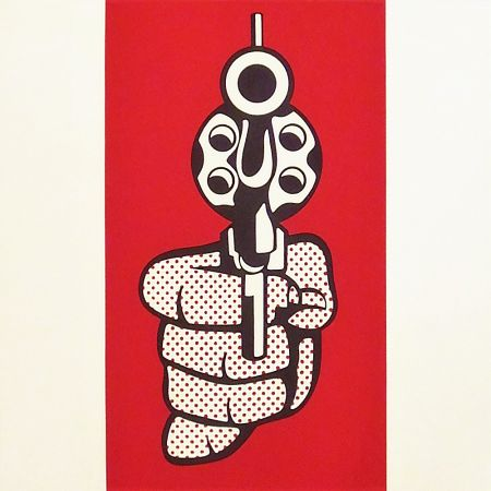 Screenprint Lichtenstein - Pistol