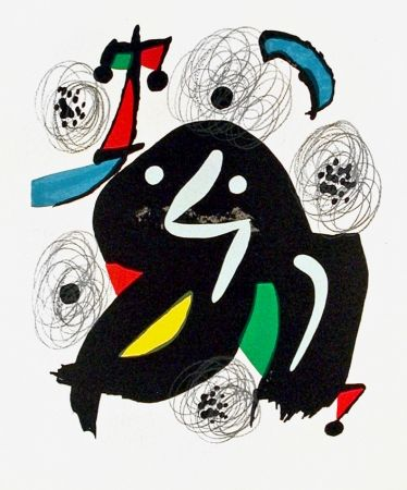 Lithograph Miró - Pl. 4 from La Mélodie Acide (The Acid Melody)