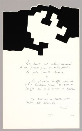 Lithograph Chillida - Placard Jabes