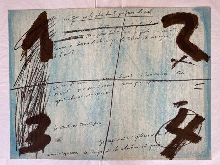 Lithograph Tàpies - Placards