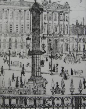 Etching Vrieslander - Place de la Concorde