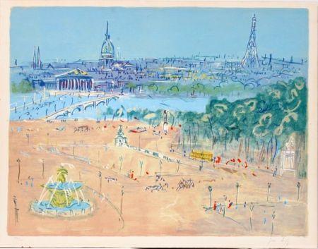 Lithograph Dufy - Place de la Concorde