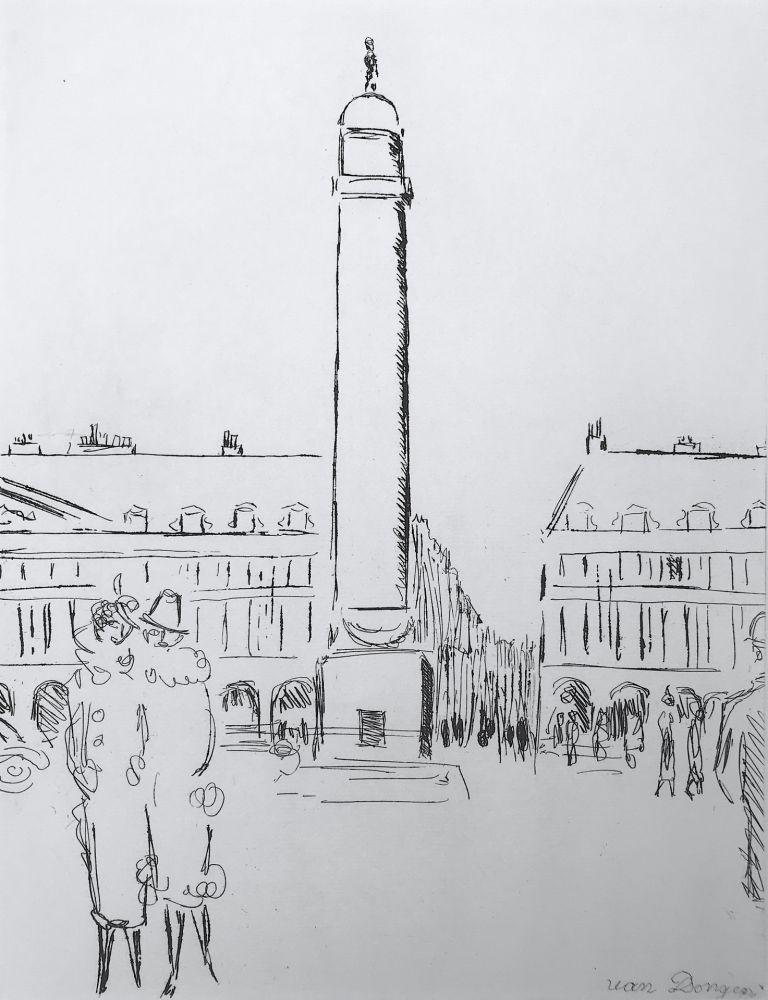 Etching Van Dongen - Place Vendome
