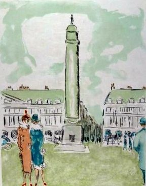 Lithograph Van Dongen - Place Vendome