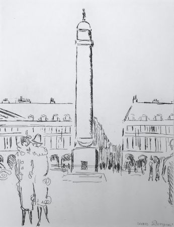 Etching Van Dongen - Place Vendome