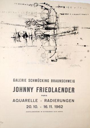 Lithograph Friedlaender - Plakat Galerie Schmücking 1962