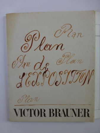 Illustrated Book Brauner - Plan de l'exposition galerie Iolas 1966