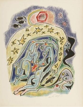 Lithograph Masson - Planche d'illustration des 23 sonnets de Louise Labbé