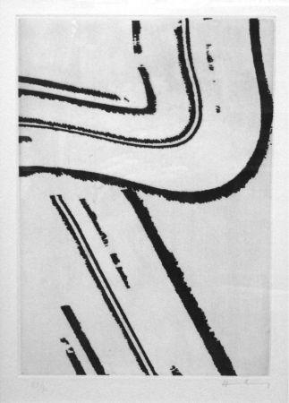 Etching And Aquatint Hartung - Planche II pour Héraclite, Mieux vaut cacher sa déraison