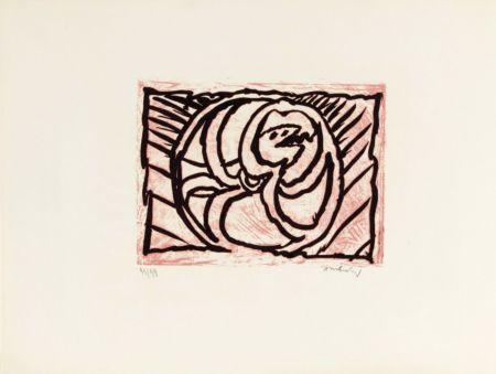 Lithograph Alechinsky - Planche V de la suite lino-litho