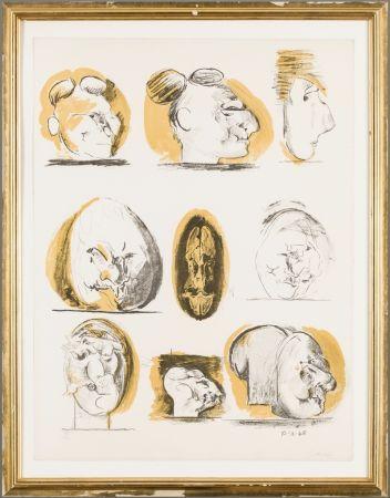 Lithograph Sutherland - Planches D'etudes ( tetes )