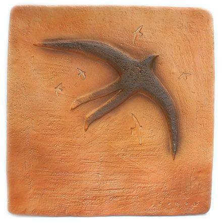 Ceramic Folon - Plate - Bird Man - Homme oiseau