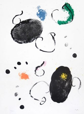 Lithograph Miró - Plate 15 from Album 19, 1961