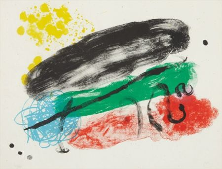 Lithograph Miró - Plate 16, from Album 19