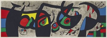 Lithograph Miró - Plate III from Le Lézard aux plumes d'or (The Lizard with Golden Feathers)