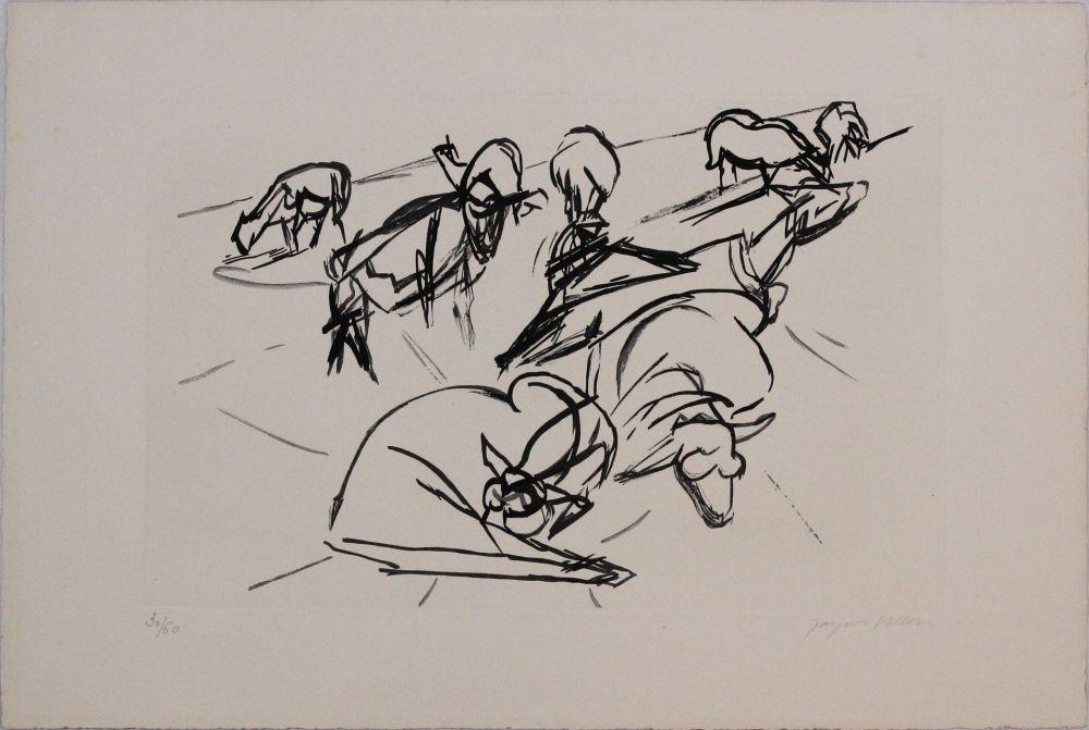Aquatint Villon - Plate X from 'Hesiode, Les Travaux et les Jours' portfolio
