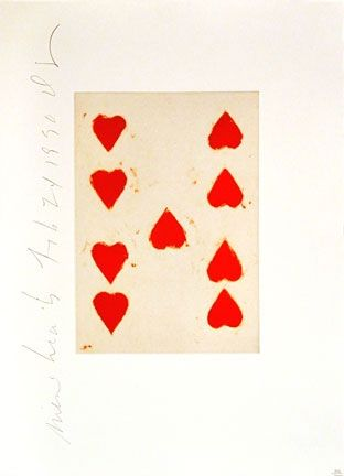 Aquatint Sultan - Playing Cards (9 of Hearts)