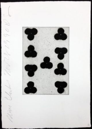 Aquatint Sultan - Playing Cards (Nine of Clubs)