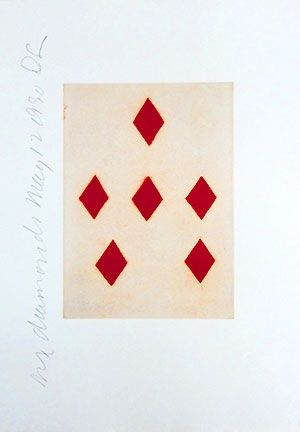 Aquatint Sultan - Playing Cards (Six of Diamonds)