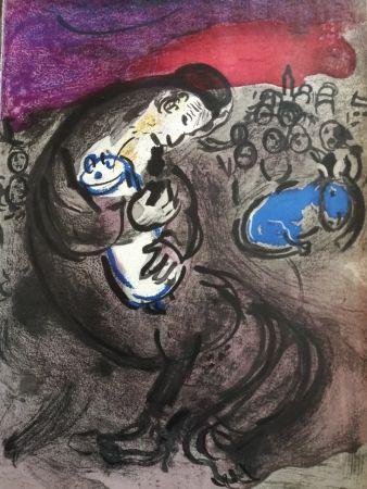 Lithograph Chagall - Pleurs de Jérémie
