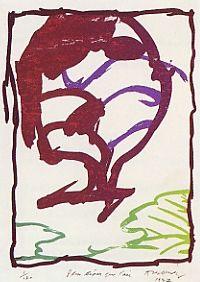 Lithograph Alechinsky - Plus Léger Que L'air