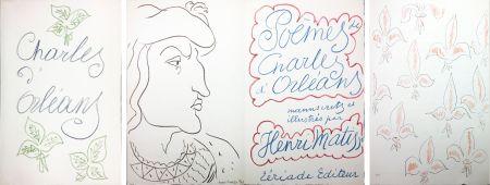 Illustrated Book Matisse - POÈMES DE CHARLES D'ORLÉANS 54 lithographies par Henri Matisse (1950).