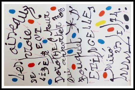 Lithograph Miró - Poème pour Dorothea Tanning