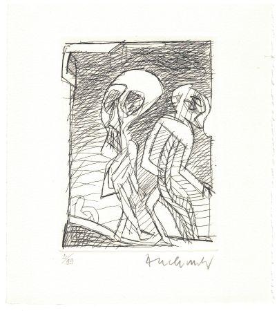 Engraving Alechinsky - '' Poèmes à peine poèmes ''
