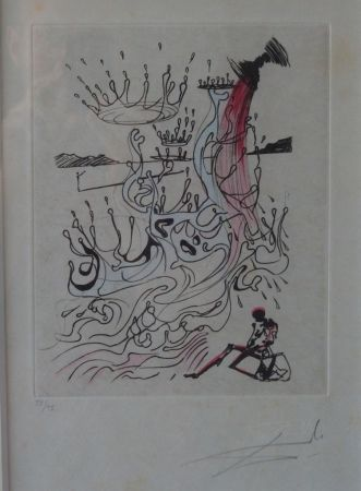 Engraving Dali - Poèmes de Mao Tse-Toung : Fleuve d'abondance