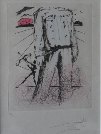 Engraving Dali - Poèmes de Mao Tse-Toung : Le buste de Mao