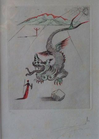 Engraving Dali - Poèmes de Mao Tse-Toung : Le Dragon