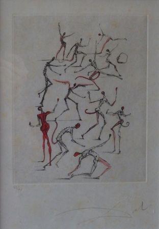 Engraving Dali - Poèmes de Mao Tse-Toung : les Démons