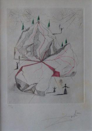Engraving Dali - Poèmes de Mao Tse-Toung : Montagne de la Paix
