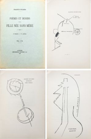 Illustrated Book Picabia - Poèmes et dessins de la fille née sans mère. 18 dessins - 51 poèmes (1918).