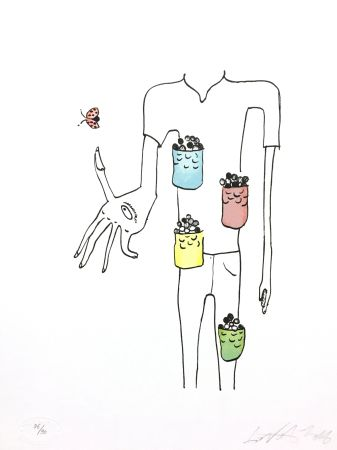 Lithograph Nørgard - Poche à bonbon