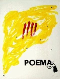 Lithograph Tàpies - Poema