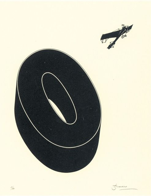 Lithograph Brossa - Poema visual 20