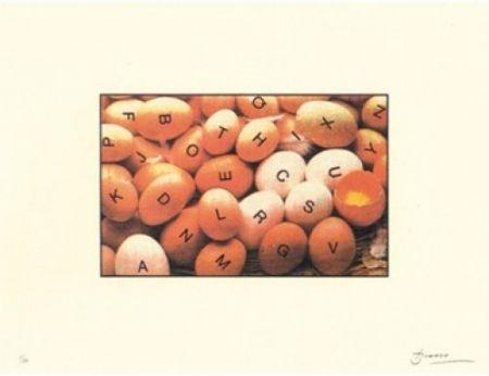 Lithograph Brossa - Poema visual 27