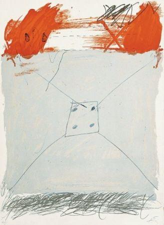 Lithograph Tàpies - Poems-1