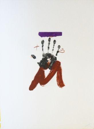 Lithograph Tàpies - Poems 2
