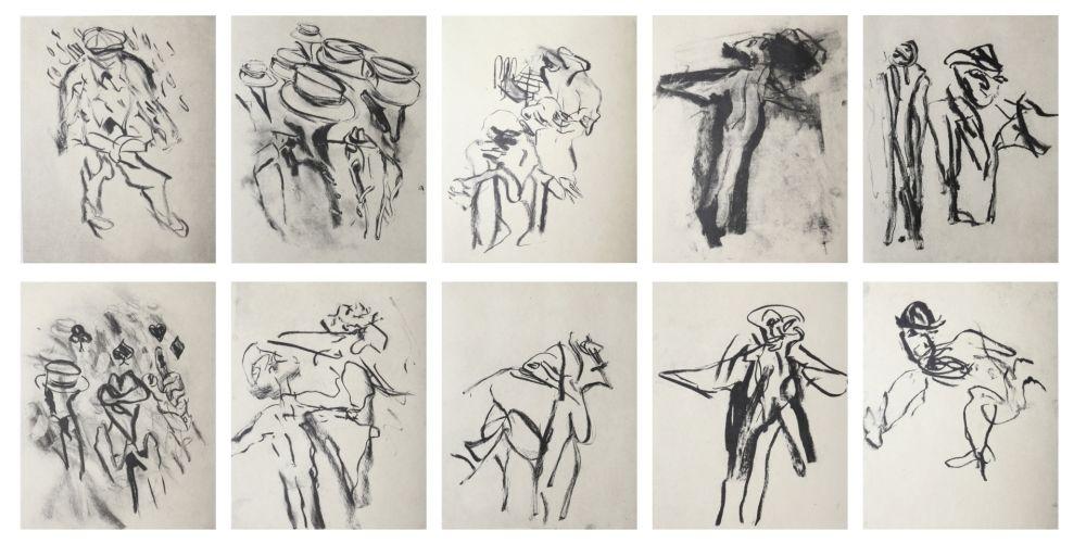 Lithograph De Kooning - Poems by Frank O'Hara